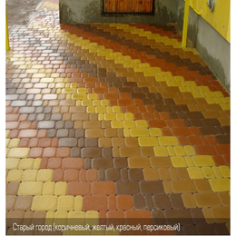 Тротуарная плитка Старый Город. Золотой Мандарин