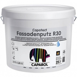 "Декоративная акриловая штукатурка Capatect-Fassadenputz R30 Weiß.""Короед"", зерно 3,0мм."