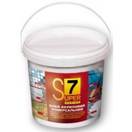 S7. Универсальная  готовая эластичная клеевая смесь (акриловая, белая) 1,4 кг ( 1л)