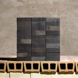 Клинкерный кирпич Janinhoff BLACK STEAM-REDUCED STP-14/8L
