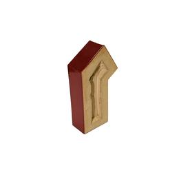 Элементы забора St.Joris Элемент ограждения коричневый глазурованный