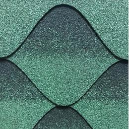 Битумная черепица Kerabit Волна зелено-черный