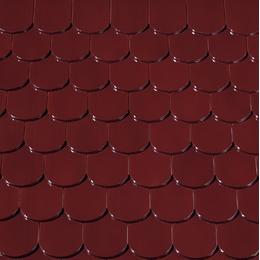 Керамическая черепица Creaton Бобровка Красное вино глазурь