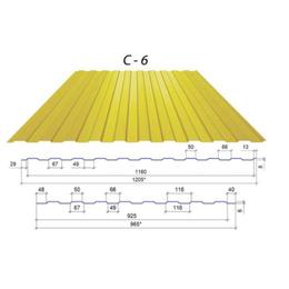 Профнастил ПС-6 Цинк 0,3мм (1205/1160мм)