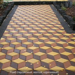 Тротуарная плитка Ромб (150х150). Золотой Мандарин
