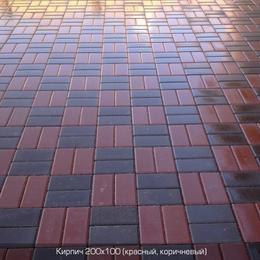 Тротуарная плитка Кирпич стандартный (200х100). Золотой Мандарин