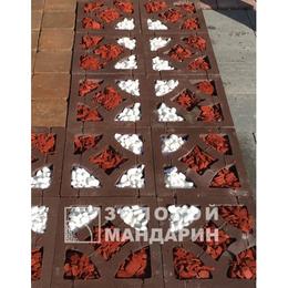 Тротуарная плитка Решетка Гармония. Золотой Мандарин