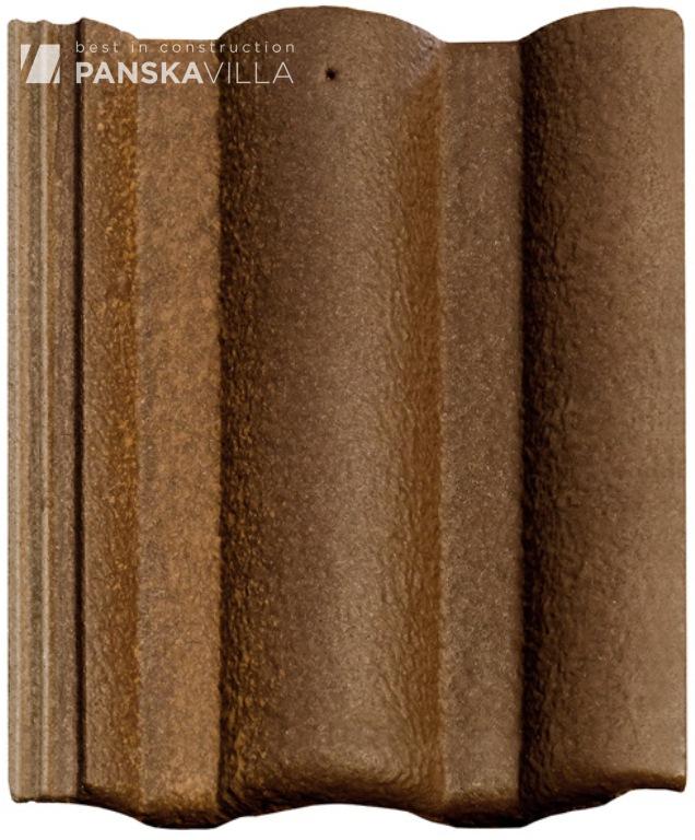 Цементно - песчаная черепица Braas Адрия коричнево-золотой (montano)