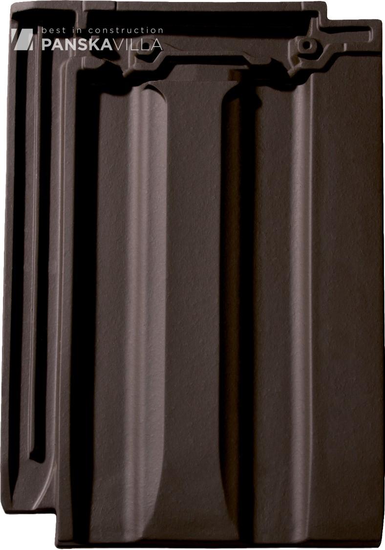 Керамическая черепица Monier-Braas Бельмонт Темный коричневый