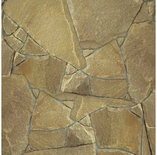 Песчаник бежево-коричневый рваный край 15 мм.
