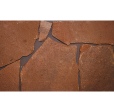 Песчаник красный обожженный рваный край 15 мм.