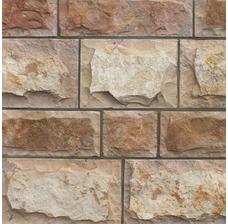 Изображение Известняк персиковый плитка заколотая 100*L произвольная 25-35 мм.