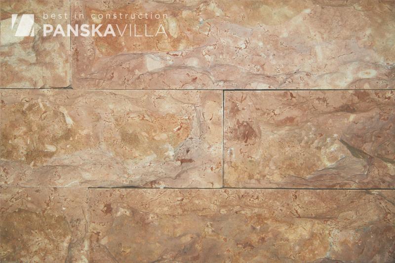 Известняк розовый/Доломит плитка с заколом 100*300 мм.