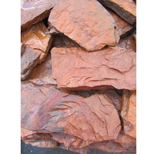 Песчаник Дракон красный рваный край 20-40 мм.