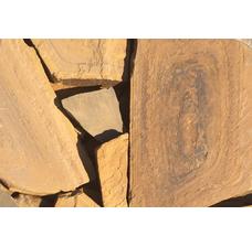 Песчаник каштан рваный край 50 мм