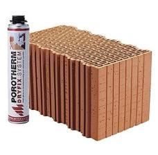 Керамический блок Porotherm Klima Dryfix 38