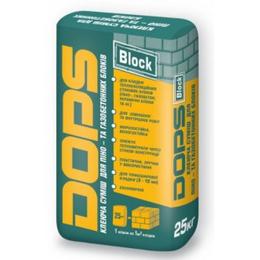 Dops block. Клеевая смесь для пено- и газобетонных блоков