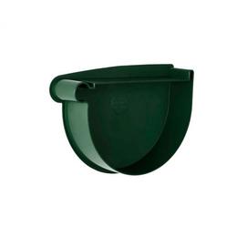 Заглушка воронки левая Rainway 90 мм зеленая