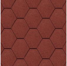 Битумная черепица Kerabit Тройка Красный