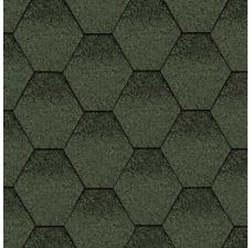 Изображение Битумная черепица Kerabit Тройка Зелено-черный