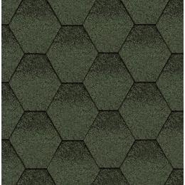 Битумная черепица Kerabit Тройка Зелено-черный