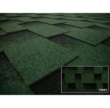 Изображение 2 Битумная черепица Kerabit L+ Квадро зелёно-черный