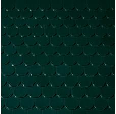 Керамическая черепица Creaton Classic Biber (Бобровка) Зеленая глазурь Finesse
