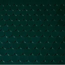 Керамическая черепица Creaton Бобровка Зеленая глазурь