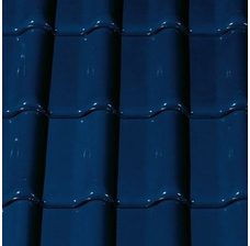 Керамическая черепица Creaton Futura (Футура) Темно-синяя глазурь Noblesse