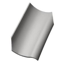 Керамическая черепица Jacobi H2 Светло-серый Специальная коллекция