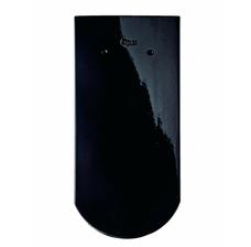Изображение Керамическая черепица Braas Опал Черный глянцевый глазурь