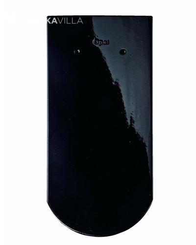 Керамическая черепица Braas Опал Черный глянцевый глазурь