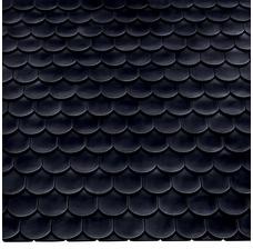 Изображение 2 Керамическая черепица Braas Опал Черный бриллиант Топ глазурь