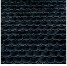 Изображение 2 Керамическая черепица Braas Опал Черный глянцевый глазурь